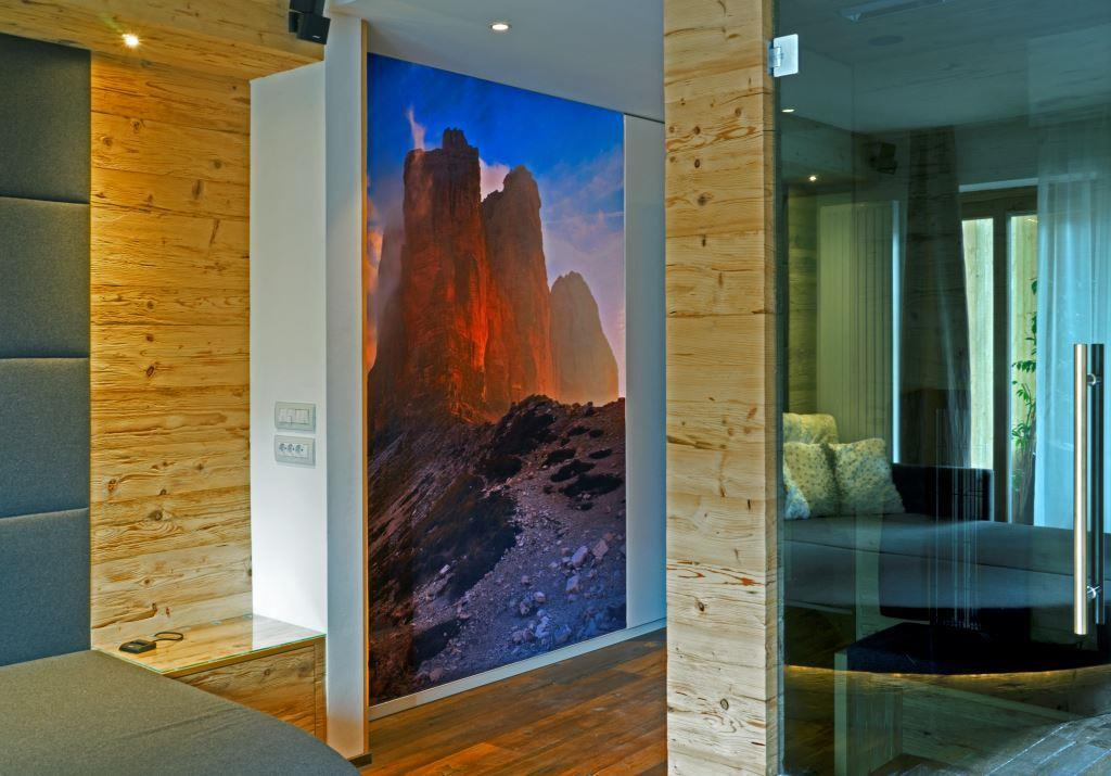 Interieur inspired by the famous Dolomites