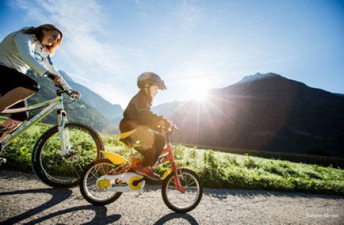 bike family dolomites