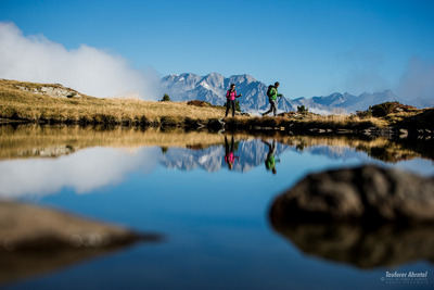 Hiking mountain lakes